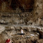 Hebrew University archaeologists uncover 12,000 year old grave inside a cave in northern Israel  (photo credit: Naftali Hilger)
