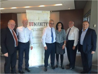 From left are Eitan Drori, Executive Director, Josh Liberman,  Ambassador Yossi Gal, Dr. Rolene Lamm, Grahame Leonard AM and Jeff Morrison