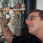 Prof Nadav Katz with a low temperature setup for testing superconducting detectors at the Hebrew Universitys Quantum Information Science Center . (Credit: Yitz Woolf for Hebrew University)
