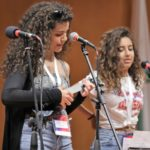 Palestinian students perform at the opening ceremony of the Interreligious Citizenship Encounter, organized by Scholas Occurentes and the Hebrew University's Truman Institute. (Credit: Scholas Occurentes)