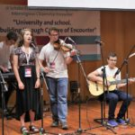 Israeli students perform at the opening ceremony of the Interreligious Citizenship Encounter, organized by Scholas Occurentes and the Hebrew University's Truman Institute. (Credit: Scholas Occurentes)