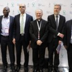 Religious leaders pose with organizers of the Interreligious Citizenship Encounter, organized by Scholas Occurentes and the Hebrew University's Truman Institute. (Credit: Scholas Occurentes)