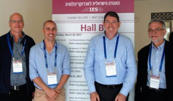 Researchers Dov Gefel, Yaniv Ovadia, Aron Troen, and Jonathan Arbelle (Credit: Hebrew University)